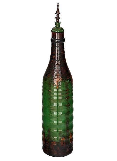 Vitale Seramik Dekoratif Şişe Yeşil